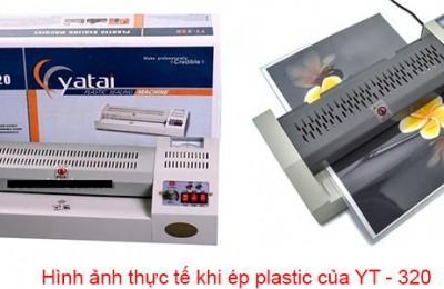 Máy ép plastic thông dụng khổ a3 yt 320