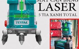 Máy cân bằng laser 5 tia xanh total