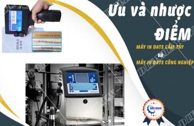 Ưu nhược điểm của máy in date cầm tay và máy in date công nghiệp