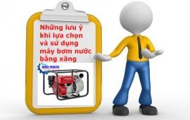 Những lưu ý khi lựa chọn và sử dụng máy bơm nước