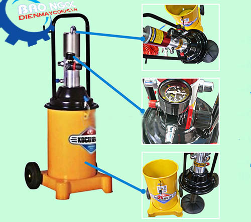 Cấu tạo và nguyên lí hoạt động của máy bơm mỡ bằng điện