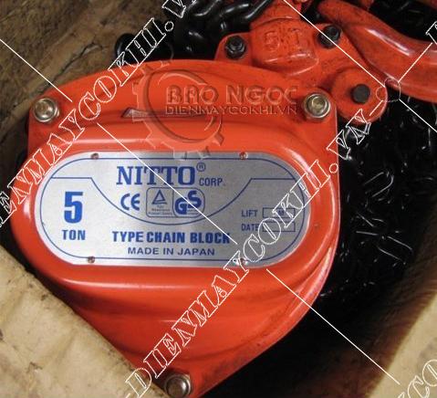 Palang xích kéo tay 5 tấn Nitto của  điện máy cơ khí