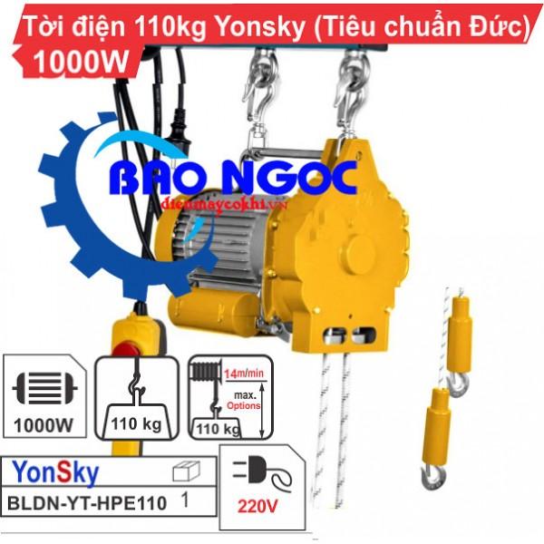 Máy tời điện Yonsky BLDN-YT-HPE110
