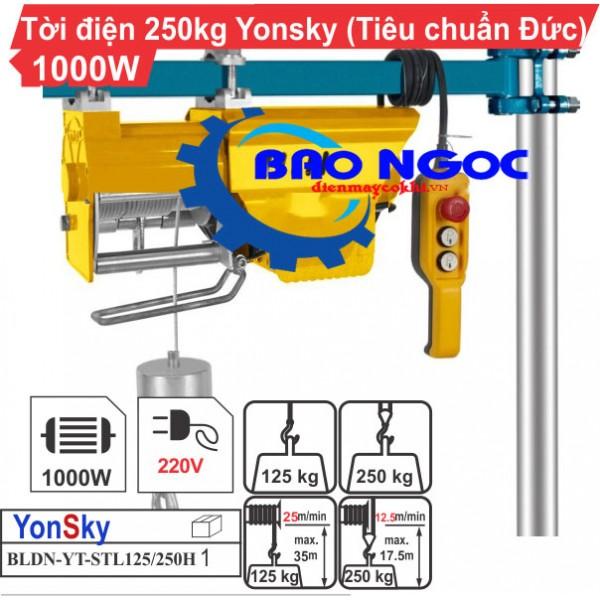 Máy tời điện Yonsky BLDN-YT-STL125/250H